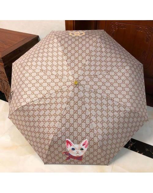 グッチ 傘 晴雨兼用 紫外線防止 シェード 日焼け止め 可愛い動物付き オシャレ人気
