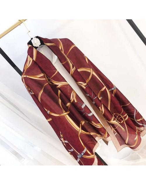 グッチ スカーフ おしゃれモノグラム ショール シルク製 旅行 ソフト柔らかい