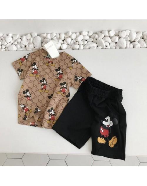 グッチ tシャツ 半袖 レディース おしゃれ ゆったり 夏物 服 ブランド 人気 かわいい コットン トップス プリント ミッキー